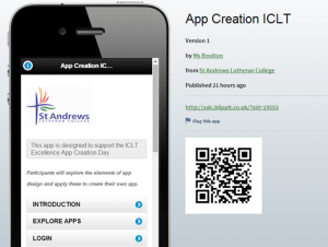 App Creation ICLT Day
