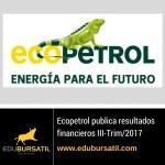Ecopetrol reporta resultados financieros para el III-Trim/2017