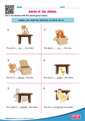 Free Printable Prepositions Worksheets For Pre K