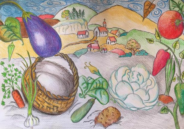 """The Tale of the Vegetable Travelers"" made for Kamishibai Story Theater."