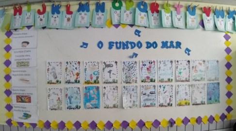 3º ano - O Fundo do Mar - Mural