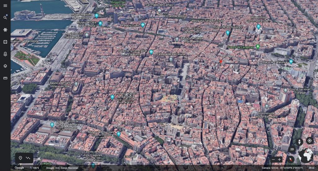 Barcelona 3D en Google Earth