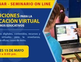 SOLUCIONES PARA LA EDUCACIÓN VIRTUAL EN CENTROS EDUCATIVOS