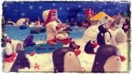 Pingüinos que miran a diario las caras de asombro de los niños