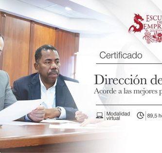 Certificado dirección de proyectos. USFQ