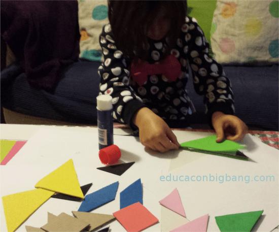 Decorando el tangram