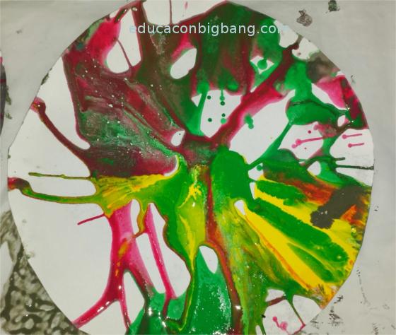 Resultado de la pintura centrífuga