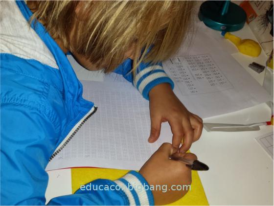 Escribiendo Braille