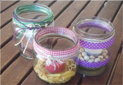 Reutilizar tarros de vidrio para hacer portavelas