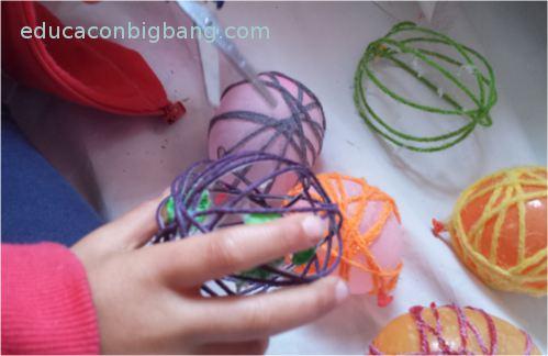 bolas de navidad hechas con cuerda o lana 4