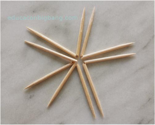 Colocación de los palillos