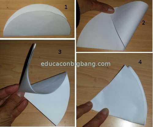Doblando el círculo en 6 partes iguales