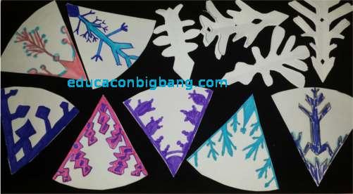 reflexiones multiples con 2 espejos cristales de nieve 5