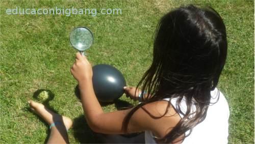 enfocando globo negro