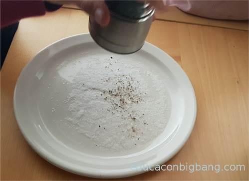 Mezcla de sal y pimineta