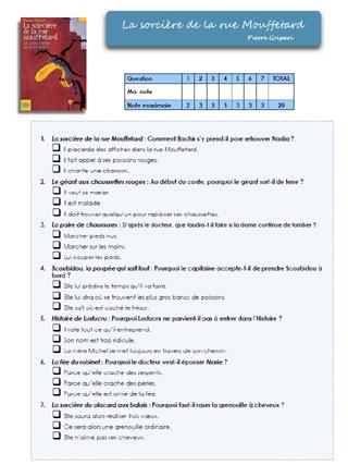 La Sorcière De La Rue Mouffetard Questionnaire : sorcière, mouffetard, questionnaire, Rallye, Lecture:La, Sorcière, Mouffetard, Autres, Contes, Broca