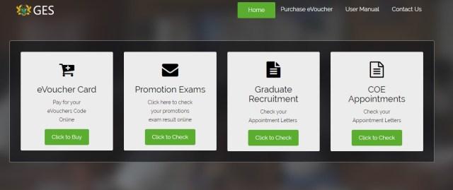 GES Promotion portal