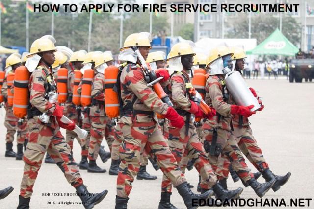 GHANA FIRE RECRUITMENT FORMS