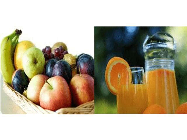 fruta vs zumo