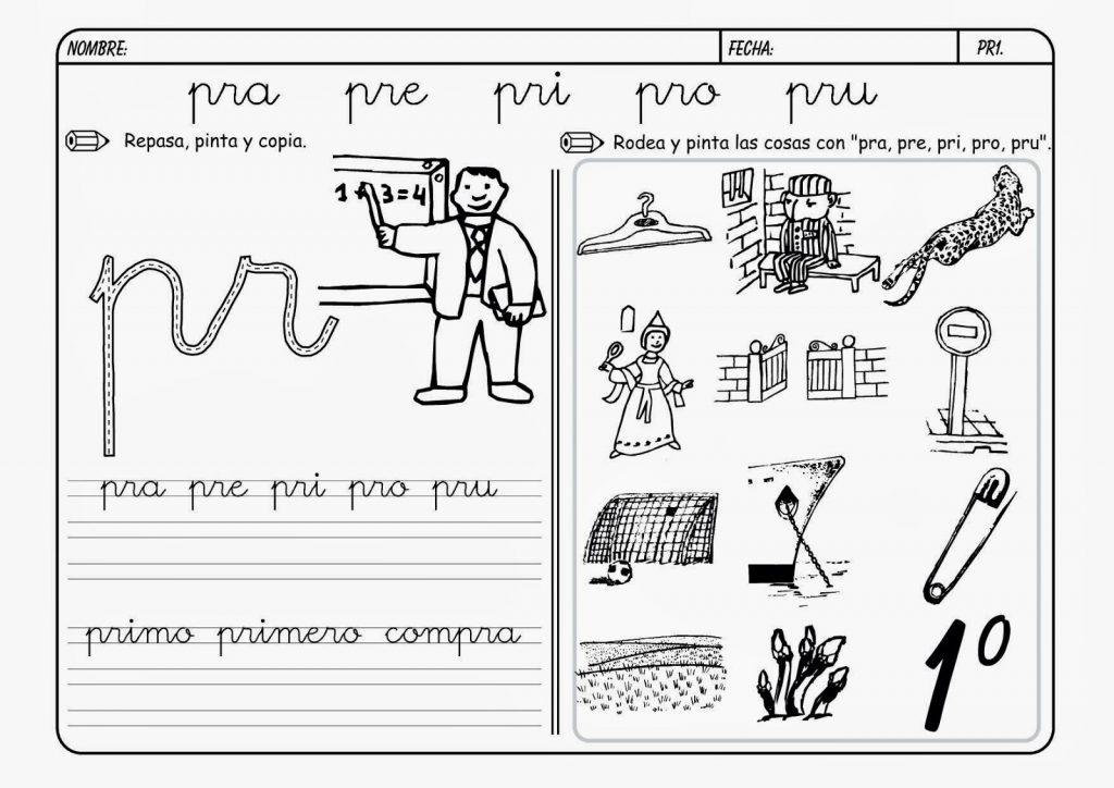 """Dibujos Con La Trabada Br: Palabras Trabadas Con Letra """"Pr"""""""