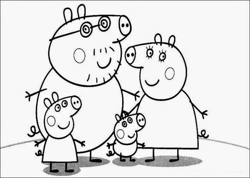 Imágenes y dibujos de Peppa Pig para imprimir y Colorear ...