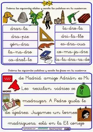 Palabras con dra dre dri dro dru  Material para maestros