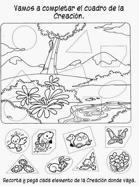 Fichas de la creación para imprimir | Material para maestros ...