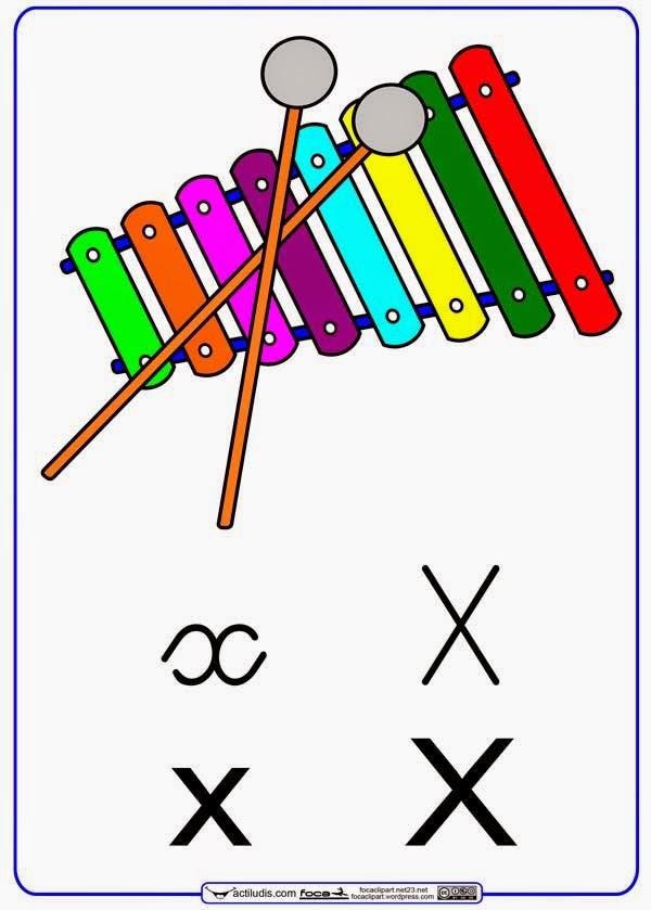 Palabras y frases con x lectoescritura | Material para