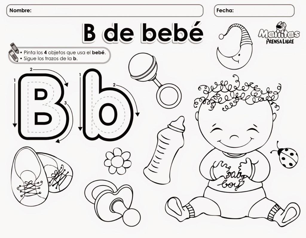 La Letra B Para Colorear Y Delinear