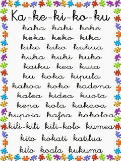 palabras con ka, ke, ki, ko, ku