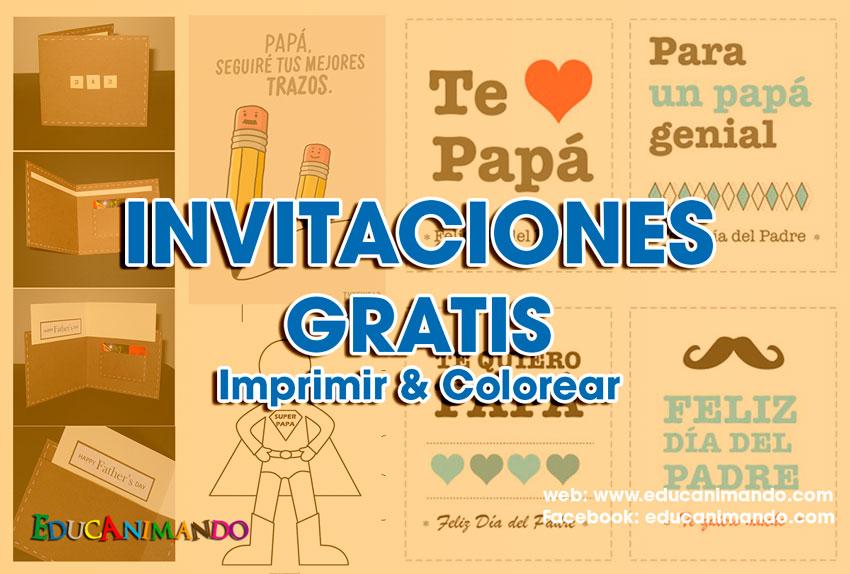 Moldes de TARJETAS DE INVITACIÓN para el día del PADRE | Material ...