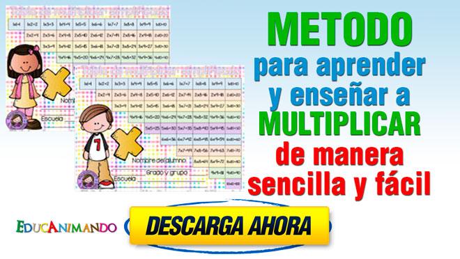 excelente metodo para aprender y ensear a multiplicar de manera sencilla y fcil