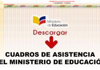Cuadros de Asistencia del Ministerio de Educación