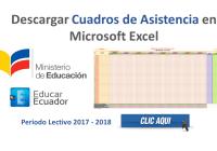 Cuadros de Asistencia en Microsoft Excel