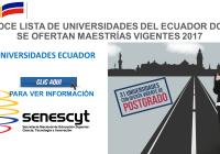 Conoce lista de Universidades del Ecuador donde se ofertan maestrías