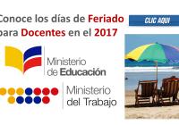 Aquí podrás conocer los días de feriado o descanso obligatorio para todos los servidores públicos del Ecuador, incluyendo los docentes.