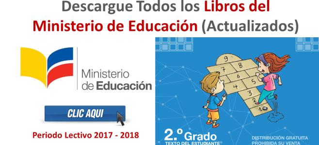 Descargue Todos los Libros del Ministerio de Educación (Actualizados)