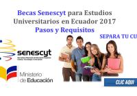 Becas Senescyt para Estudios Universitarios en Ecuador 2017 - Pasos y Requisitos