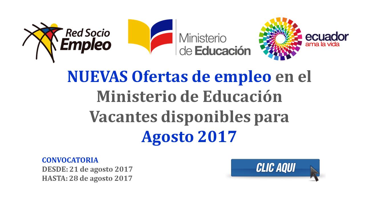 Ofertas de empleo en el Ministerio de Educación - Vacantes ...