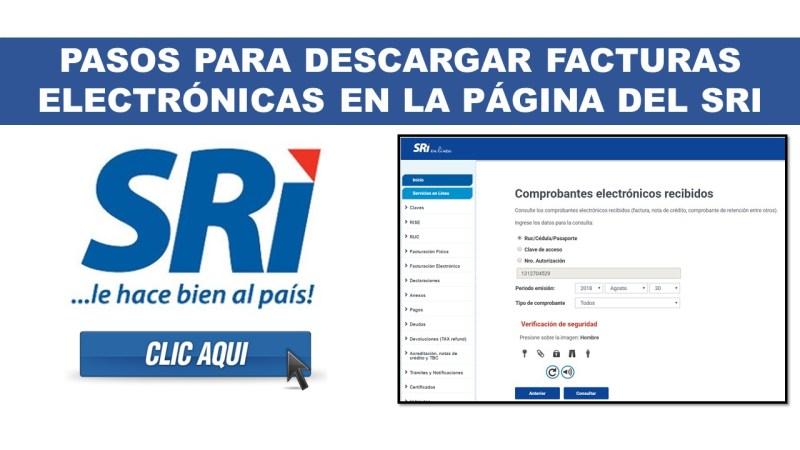 Pasos para Descargar Facturas Electrónicas en la página del SRI