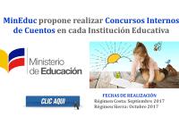 MinEduc propone realizar Concursos Internos de Cuentos en cada Institución Educativa