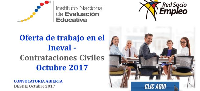 Oferta de trabajo en el Ineval - Contrataciones Civiles Octubre 2017