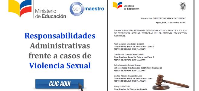 Responsabilidades Administrativas frente a casos de Violencia Sexual (MinEduc 2017)