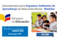 Lineamientos para Organizar Ambientes de Aprendizaje en Educación Inicial - MinEduc
