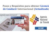 Pasos y Requisitos para obtener Licencia de Conducir Internacional - ANT