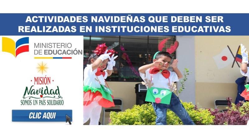 Actividades Navideñas que deben ser realizadas en Instituciones Educativas 2018