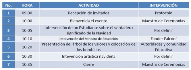 Actividades Navideñas que deben ser realizadas en Instituciones ...