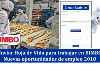 Enviar Hoja de Vida para trabajar en BIMBO - Nuevas oportunidades de empleo 2018