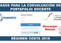 Pasos para la Coevaluación del Portafolio Docente - Régimen Costa 2018