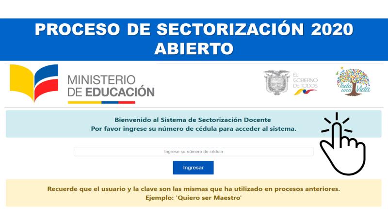 Proceso de Sectorización 2020